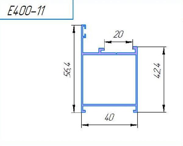 400-11Л, профиль рама дверная, 6м (уп.24м)
