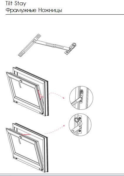 Фрамужные ножницы REZE ( аналог Рото ) (2 части) (100 шт)